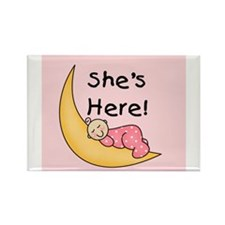 She's Here Rectangle Magnet (10 pack)