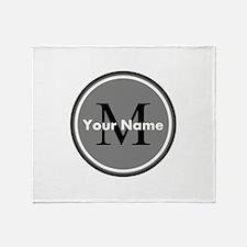 Custom Initial And Name Throw Blanket