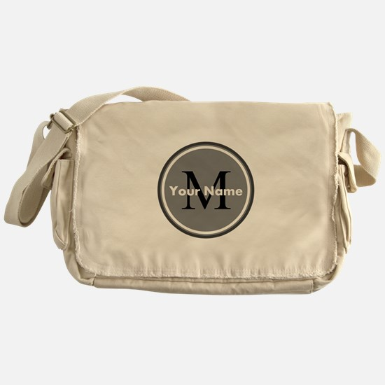 Custom Initial And Name Messenger Bag