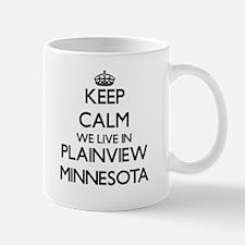 Keep calm we live in Plainview Minnesota Mugs