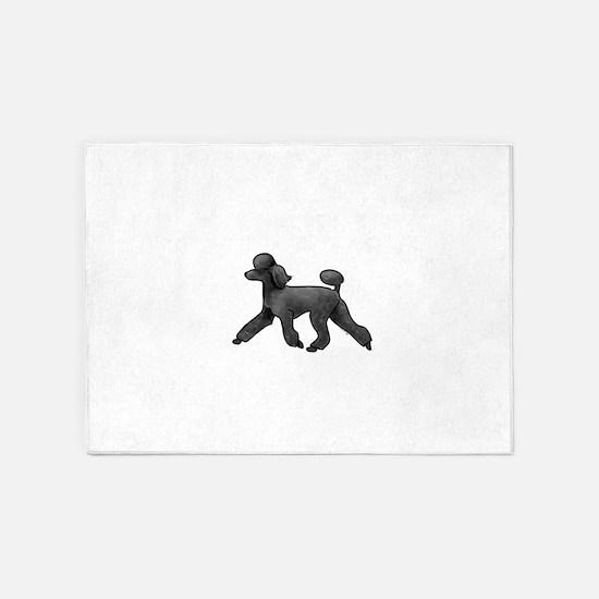 black poodle 5'x7'Area Rug