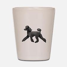 black poodle Shot Glass