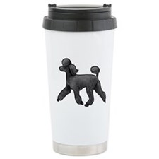 black poodle Travel Mug