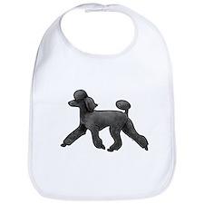 black poodle Bib