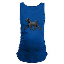 black poodle Maternity Tank Top
