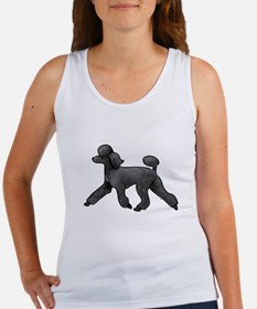 black poodle Tank Top