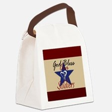 God Bless Soldiers Canvas Lunch Bag