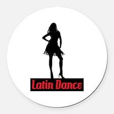Latin Dance Round Car Magnet