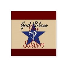 God Bless Soldiers Sticker