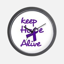 Keep Hope Alive Wall Clock