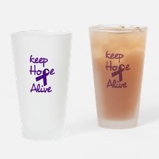 Keep Hope Alive Drinking Glass