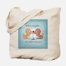 Valentines Day Kissing Dogs Tote Bag