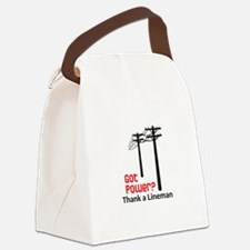 Got Power ? Thank A Lineman Canvas Lunch Bag
