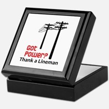Got Power ? Thank A Lineman Keepsake Box