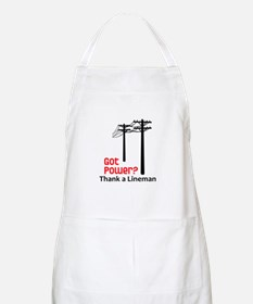 Got Power ? Thank A Lineman Apron