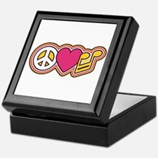 Peace Love Music Keepsake Box