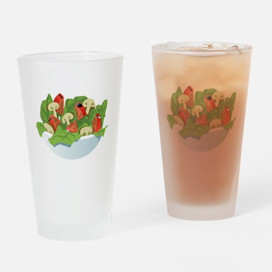 Bowl Of Salad Drinking Glass