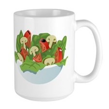 Bowl Of Salad Mugs