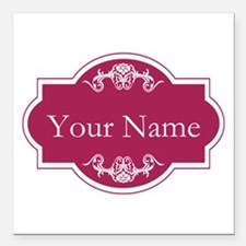"""Add Your Name Square Car Magnet 3"""" x 3"""""""