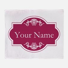 Add Your Name Throw Blanket