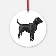 labrador retiever black Ornament (Round)
