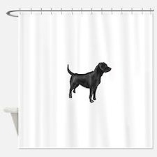 labrador retiever black Shower Curtain