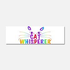 cat whisperer Car Magnet 10 x 3