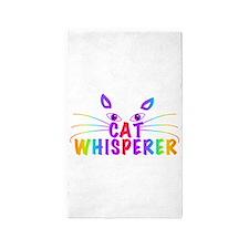 cat whisperer Area Rug