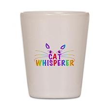 cat whisperer Shot Glass