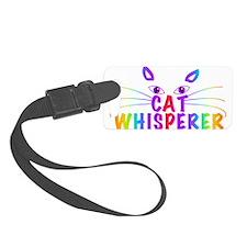 cat whisperer Luggage Tag