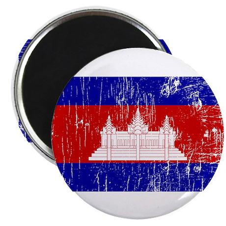 "Vintage Cambodia 2.25"" Magnet (100 pack)"