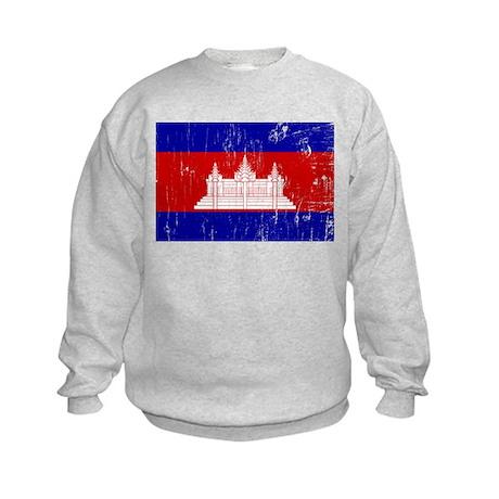Vintage Cambodia Kids Sweatshirt