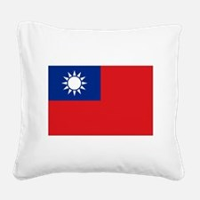ROC flag Square Canvas Pillow