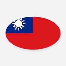 ROC flag Oval Car Magnet