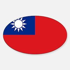 ROC flag Sticker (Oval)
