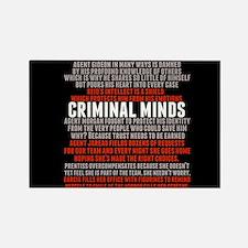 Criminal Minds Team Rectangle Magnet