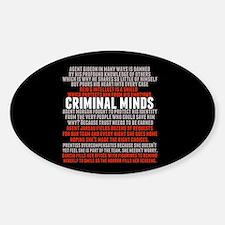 Criminal Minds Team Bumper Stickers