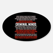 Criminal Minds Team Sticker (Oval)