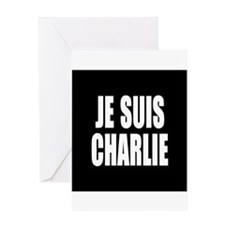 JE SUIS CHARLIE Greeting Cards