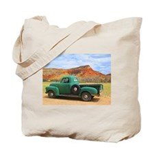 Green Truck at Ghost Ranch Tote Bag