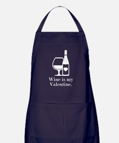 Wine Is My Valentine Apron (dark)