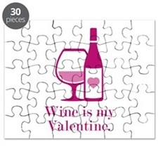 Wine Is My Valentine Puzzle