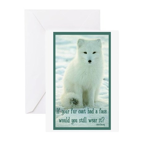 Wolf Coat Greeting Cards (Pk of 10)