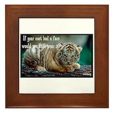 Tiger Coat Framed Tile