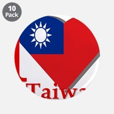 """I love Taiwan 3.5"""" Button (10 pack)"""