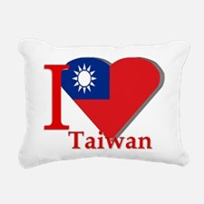 I love Taiwan Rectangular Canvas Pillow