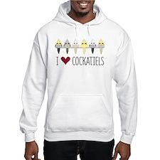 I Love Cockatiels Jumper Hoody