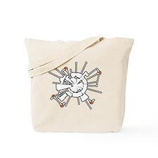 Moonbase Alpha Halftone Tote Bag