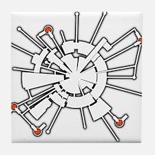Moonbase Alpha Halftone Tile Coaster