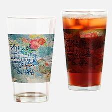 Cute Encouragement Drinking Glass